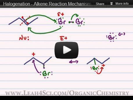 Click to watch the alkene halogenation organic chemistry tutorial video