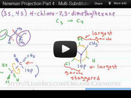 Newman Projection Practice Example Video