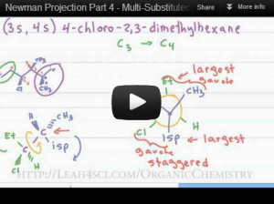 Newman Projections of Multi-substituted Molecules Organic Chemistry Tutorial Video