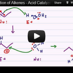 Acid catalyzed hydration alcohol formation alkene reaction mechanism