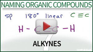 Naming Alkynes Video Tutorial by Leah4sci Organic