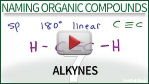 Naming Alkynes Video Tutorial by Leah4sci Organic