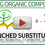 Naming Branched Substituents isopropyl isobutyl tertbutyl Video Tutorial by Leah4sci