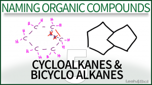 Nomencalture Cycloalkanes & Bicyclo Alkanes Video Tutorial Organic Leah Fisch