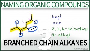 Nomenclature Branched Chain Alkanes Tutorial Orgo Leah Fisch
