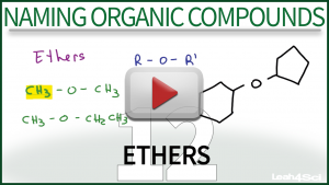 Nomenclature Ethers Video Tutorial Leah Fisch Organic Chemistry
