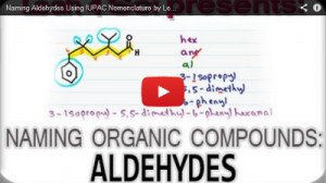 Nomenclature Tutorial Video 14 aldehydes