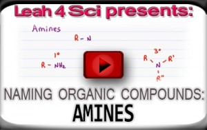 Nomenclature Tutorial Video 18 amines
