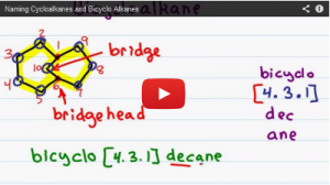 Nomenclature Tutorial Video 5 cycloalkanes and bicyclo alkanes