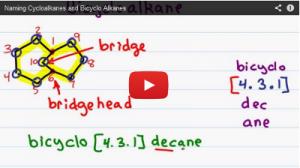 Nomenclature Tutorial Video 5 cycloalkanes and bicyclo alkanes