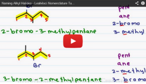 Nomenclature Tutorial Video 9 alkyl halides