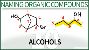 Nomenclature Alcohols Video Tutorial Leah Fisch Organic Chemistry