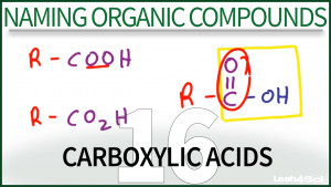 Nomenclature Carboxylic Acids Tutorial Video Leah Fisch Organic Chemistry