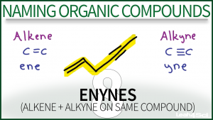 Nomenclature Enynes Video Tutorial Organic Chemistry Leah Fisch
