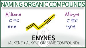 Nomenclature Enynes Video Tutorial Organic Chemistry Leah Fisch