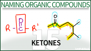 Nomenclature Ketones Organic Chemistry Tutorial Video Leah Fisch