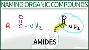 Nomenclature Amides Tutorial Video Leah Fisch Organic Chemistry