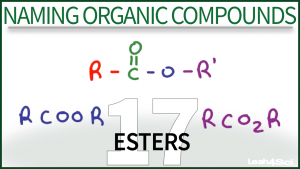 Nomenclature Esters Tutorial Video Leah Fisch Organic Chemistry