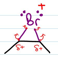 bromonium bridge in halohydrin formation