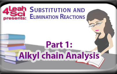 alkyl halid carbon chain analysis for substitution and elimination reactions by Leah4sci