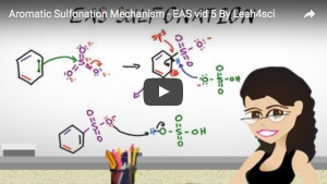 Aromatic Sulfonation Reaction and Mechanism Tutorial Video