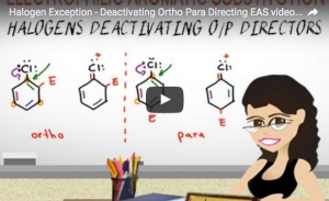 Halogen Exception Ortho Para Deactivators Tutorial Video