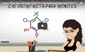 Ortho Meta and Para Disubstituted Benzene Monster Trick Video