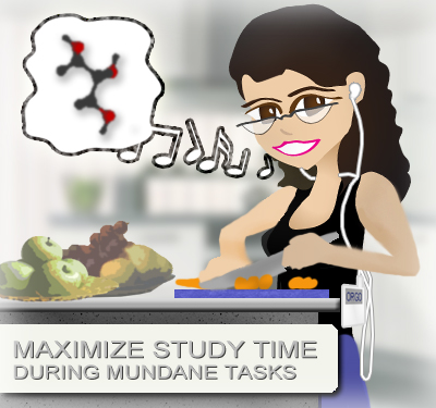 studying during mundane tasks - Leah Fisch