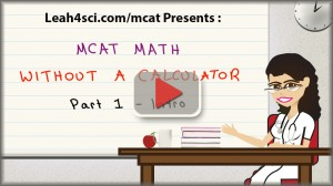 mcat math without a calculator 1 play