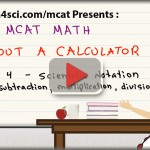 mcat math without a calculator video 4