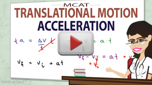Acceleration in MCAT Physics Translational Motion Video by Leah4sci