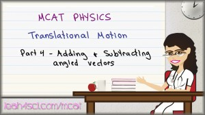 MCAT Physics Angled Vectors