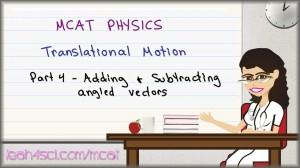 MCAT Physics Angled Vectors