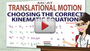 Which Equations To Choose in MCAT Kinematics Video by Leah4sci