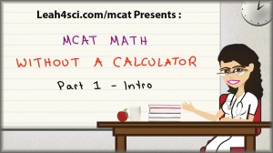 mcat math without a calculator 1 tutorial video
