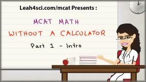 mcat math without a calculator 1 tutorial video