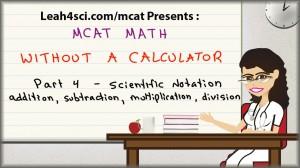 mcat math without a calculator 4