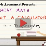 MCAT Math tutorial video trigonometry