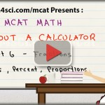 MCAT math tutorial video fractions ratios percentages proportions