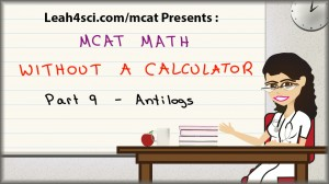 MCAT math tutorial video on anti logs
