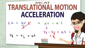 Acceleration in MCAT Physics Translational Motion Video by Leah Fisch