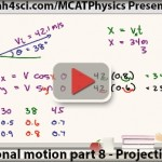 MCAT Physics Projectile Motion in Translational Motion Vid 8