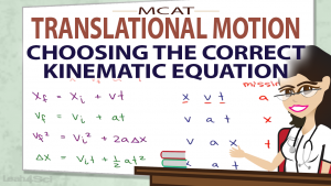 Which Equations To Choose in MCAT Translational Motion Video by Leah Fisch