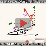 mcat physics adding and subtracting angled vectors translational motion vid 4 leah4sci