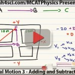 mcat physics adding and subtracting vectors translational motion vid 3