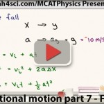 mcat physics free fall video 7
