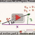 mcat physics vectors and components translational motion vid 2