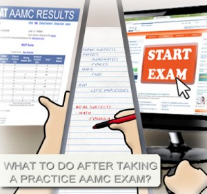 how to review aamc practice test