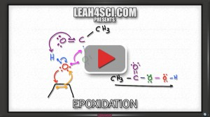 Alkene Epoxidation organic chemistry tutorial video to convert alkene to epoxide