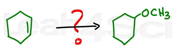 acid catalyzed alcohol addition alkene reaction practice question